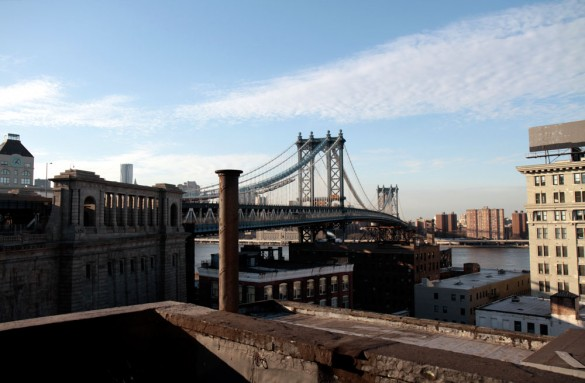 View from the studio roof in Dumbo
