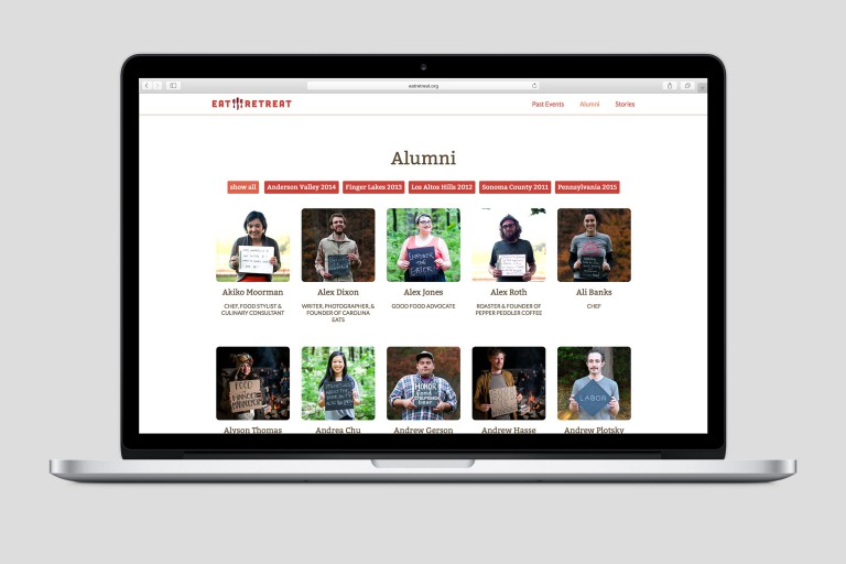 eatretreat.org alumni desktop