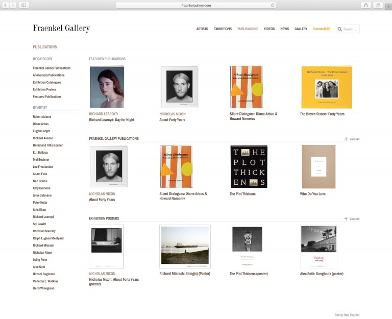 fraenkelgallery.com publications browser