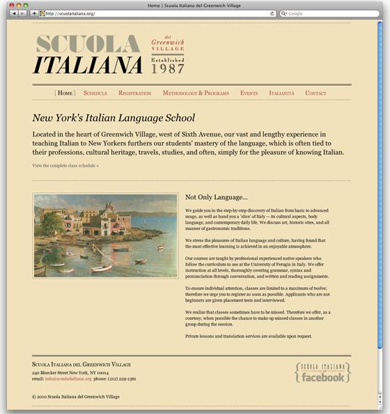 ScuolaItaliana.com homepage